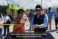 Comunidad de Itulcachi adoquinó sus calles con su fondo de compensación