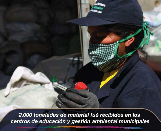 2.000 toneladas de material fueron recibidos en los centros de educación y gestión am