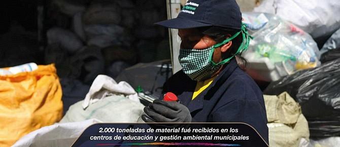 2.000 toneladas de material fueron recibidos en los centros de educación y gestión ambiental municipales