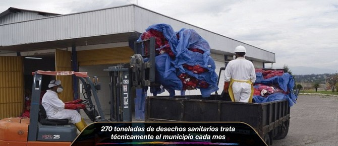 270 toneladas de desechos sanitarios trata técnicamente el municipio cada mes