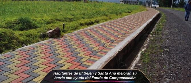 Habitantes de El Belén y Santa Ana mejoran su barrio con ayuda del Fondo de Compensación