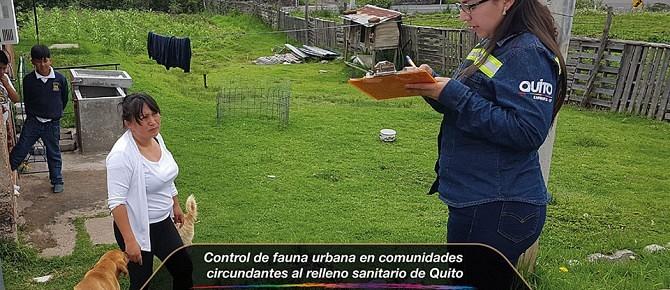 Control de fauna urbana en comunidades circundantes al relleno sanitario de Quito