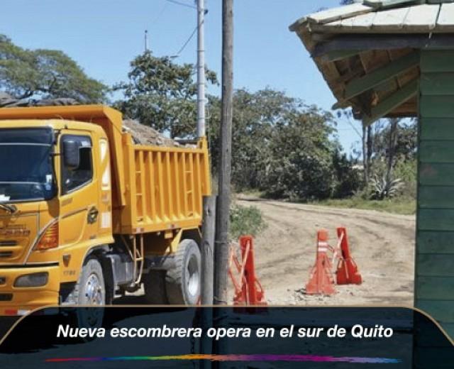Nueva escombrera opera en el sur de Quito