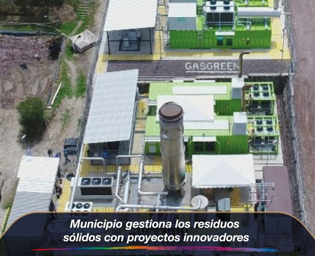 Municipio gestiona los residuos sólidos con proyectos innovadores