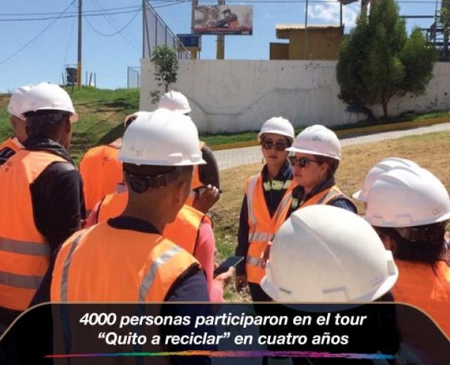 """4000 personas participaron en el tour """"Quito a reciclar"""" en cuatro años"""