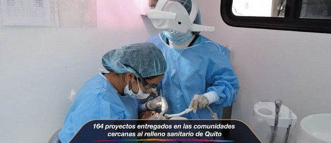 164 proyectos entregados en las comunidades cercanas al relleno sanitario de Quito